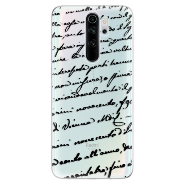 Odolné silikonové pouzdro iSaprio - Handwriting 01 - black - Xiaomi Redmi Note 8 Pro