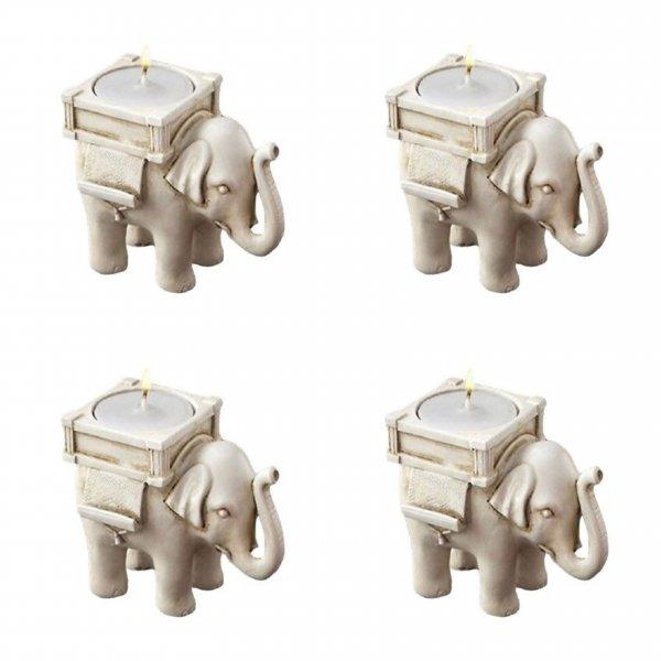 Sada slonů na svíčku - 4 ks