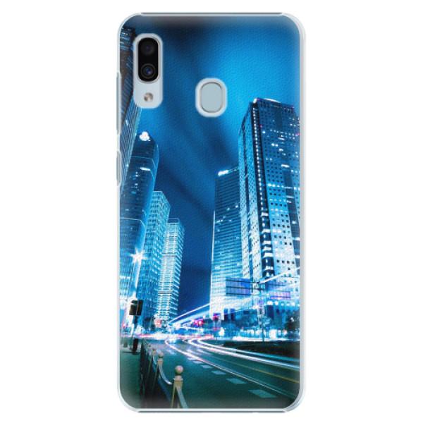 Plastové pouzdro iSaprio - Night City Blue - Samsung Galaxy A20