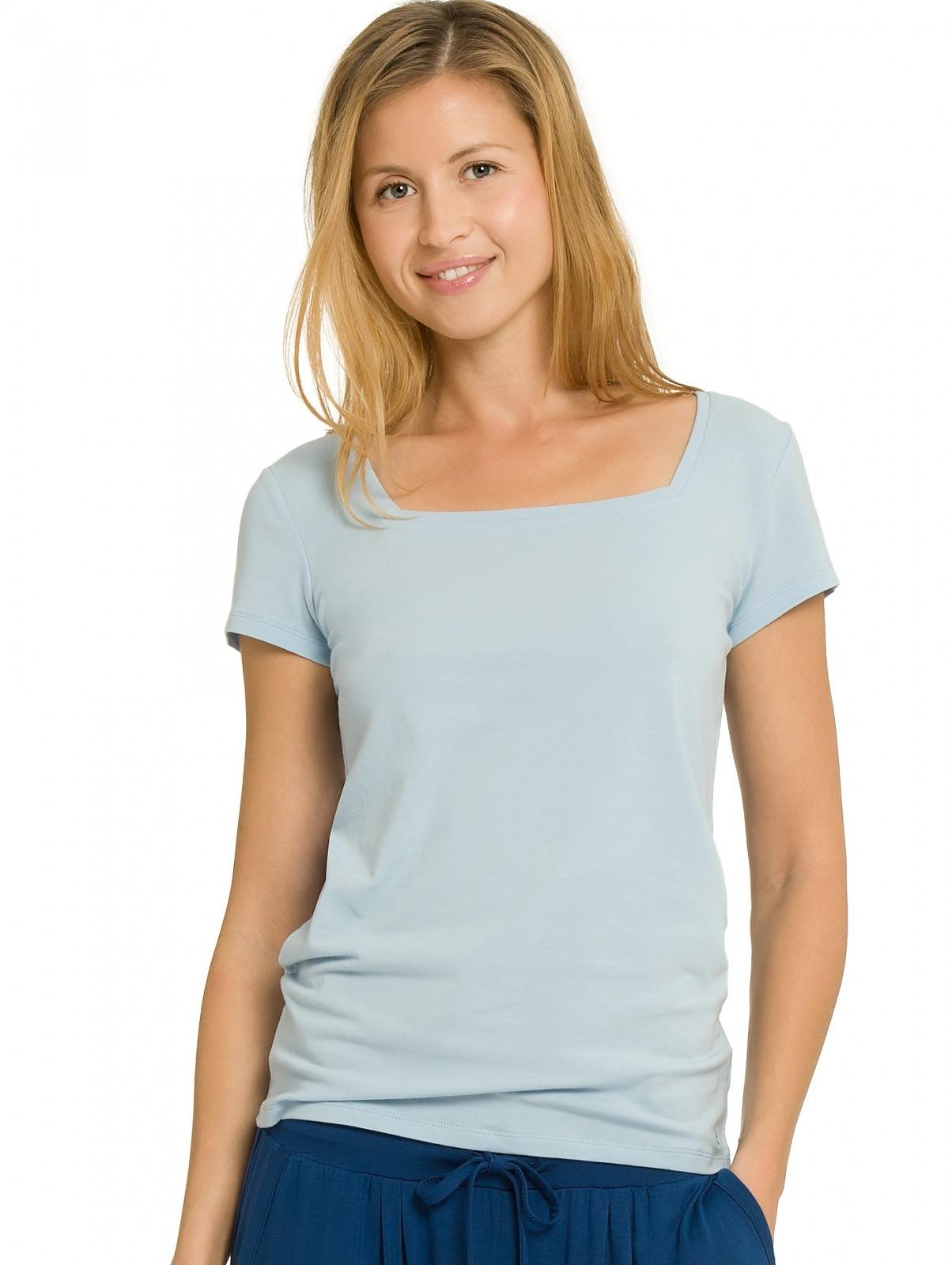 Dámské tričko QS1687E - Calvin Klein - Sv.modrá/M