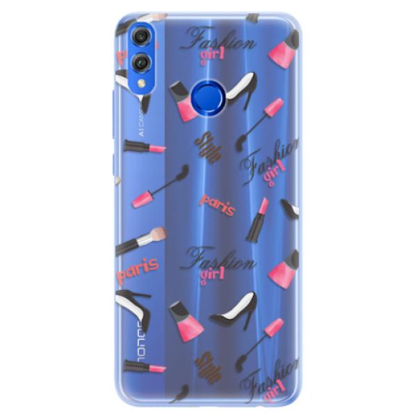 Silikonové pouzdro iSaprio - Fashion pattern 01 - Huawei Honor 8X