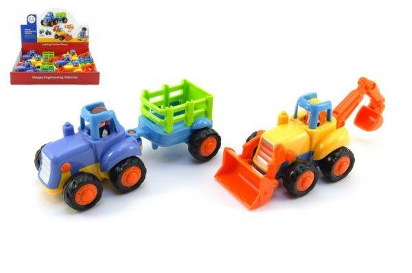 Traktor s vlekem - 16 x 7 x 7 cm