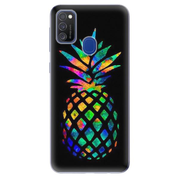 Odolné silikonové pouzdro iSaprio - Rainbow Pineapple - Samsung Galaxy M21