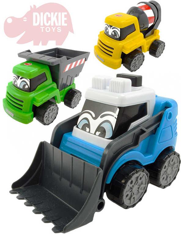 DICKIE Baby auto veselé pracovní Happy Builder s očima 3 barvy 3 druhy
