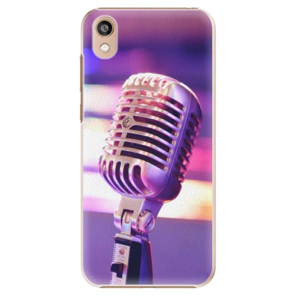 Plastové pouzdro iSaprio - Vintage Microphone - Huawei Honor 8S