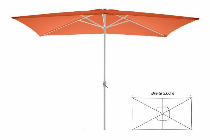 Slunečník obdélníkový 2x3 m - terakota