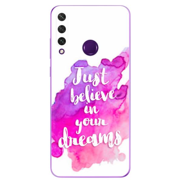Odolné silikonové pouzdro iSaprio - Believe - Huawei Y6p