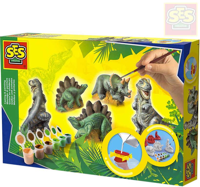 SES CREATIVE Sádroví dinosauři kreativní set k odlévání z gumové formy
