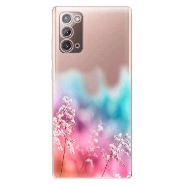 Odolné silikonové pouzdro iSaprio - Rainbow Grass - Samsung Galaxy Note 20