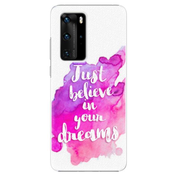 Plastové pouzdro iSaprio - Believe - Huawei P40 Pro