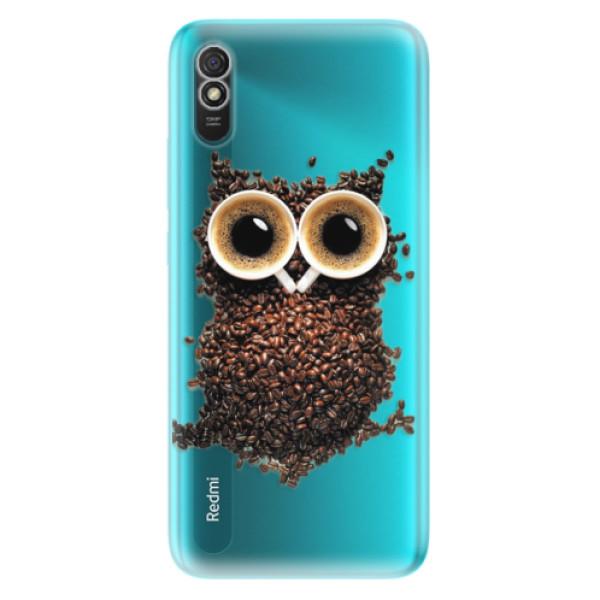Odolné silikonové pouzdro iSaprio - Owl And Coffee - Xiaomi Redmi 9A
