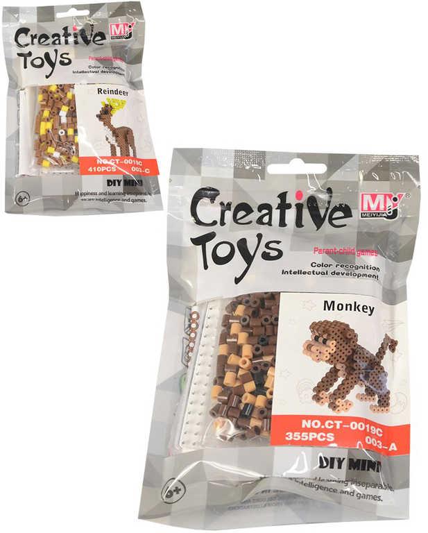 Korálky barevné mozaika 3D objekty zvířátka set s doplňky 6 druhů v sáčku