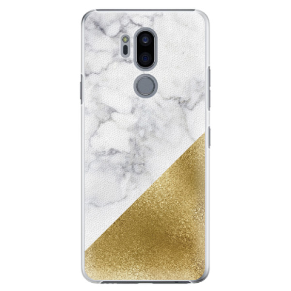 Plastové pouzdro iSaprio - Gold and WH Marble - LG G7