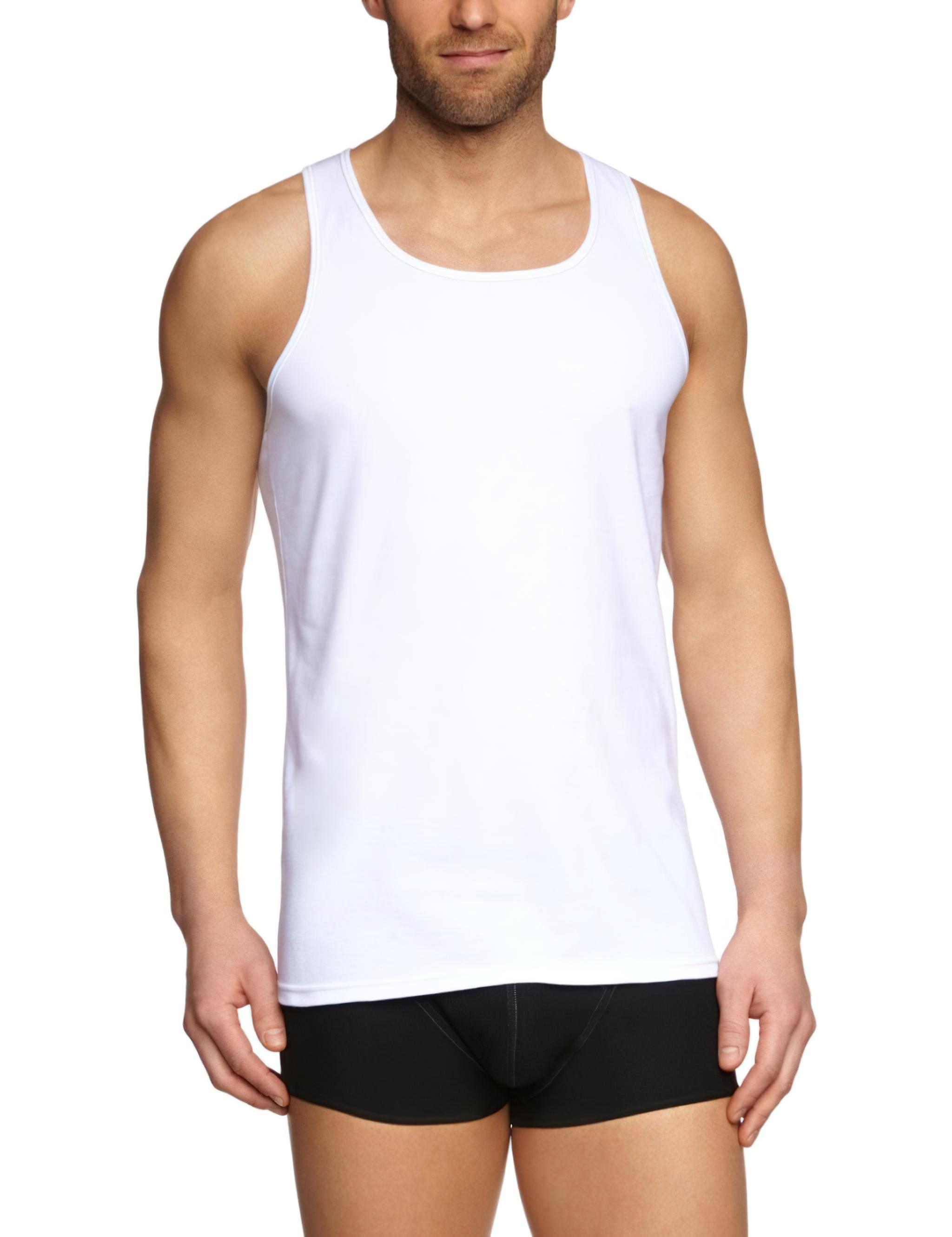 Pánské tílko Sloggi Men Silver plus SH 02 Vest - Černá (0004)/0007