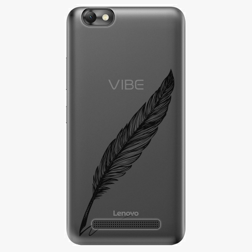 Plastový kryt iSaprio - Writing By Feather - black - Lenovo Vibe C
