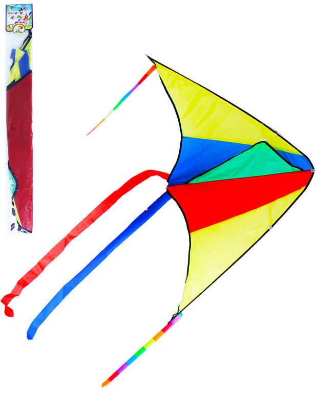 Drak létající nylonový 110x63cm jednošňůrový barevný