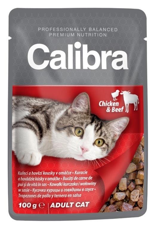 Calibra Cat kapsa kuřecí a hovězí v omáčce 100g