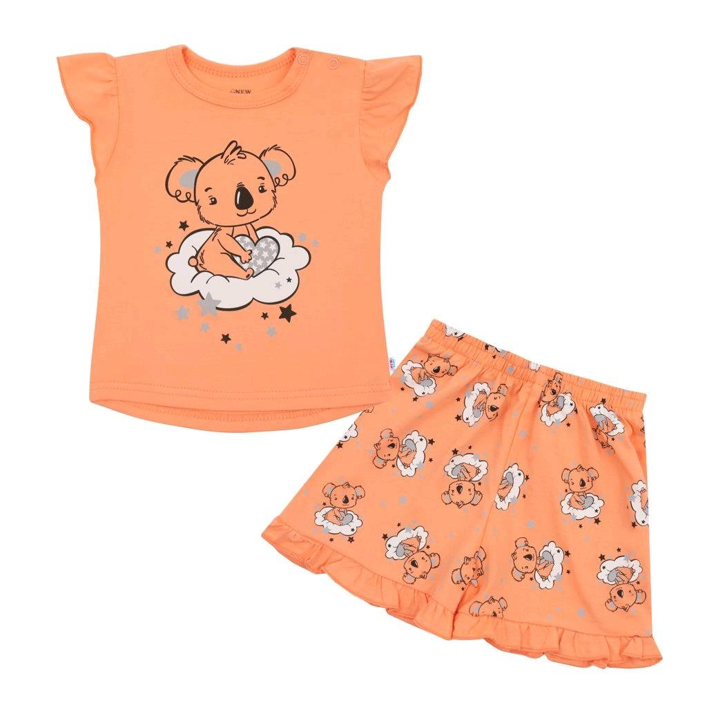 Dětské letní pyžamko New Baby Dream lososové - dle - obrázku/68 (4-6m)