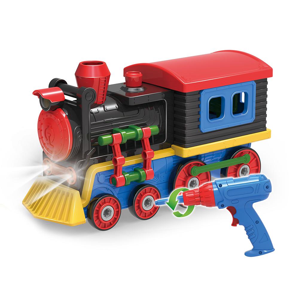 Šroubovací lokomotiva se světlem a zvukem