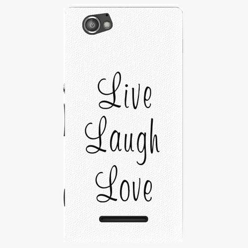 Plastový kryt iSaprio - Live Laugh Love - Sony Xperia M