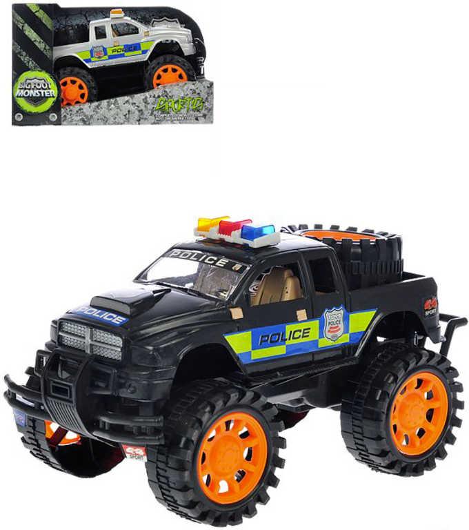 Auto terénní policejní 24 cm na setrvačník Policie - 2 barvy
