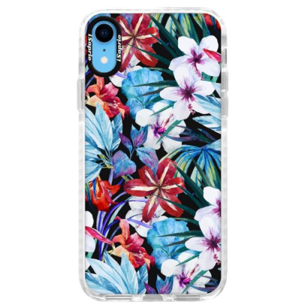 Silikonové pouzdro Bumper iSaprio - Tropical Flowers 05 - iPhone XR