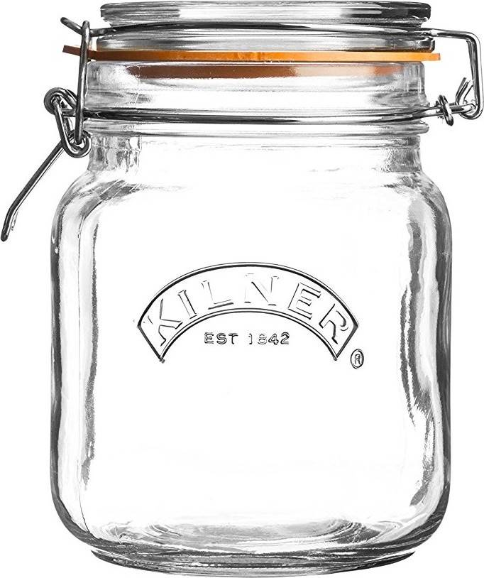0025.511 KILNER zavařovací sklenice s klipem hranatá 1l