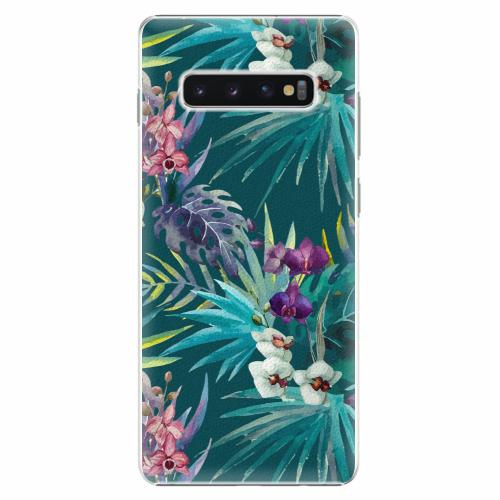 Plastový kryt iSaprio - Tropical Blue 01 - Samsung Galaxy S10+
