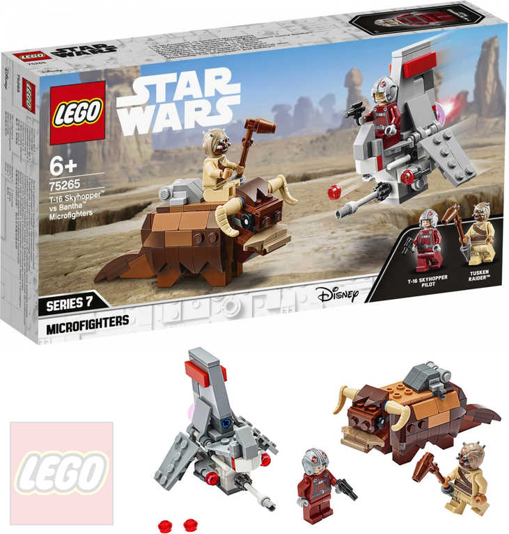 LEGO STAR WARS Mikrostíhačka T-16 Skyhopper vs. Bantha 75265 STAVEBNICE