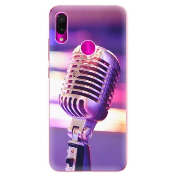 Odolné silikonové pouzdro iSaprio - Vintage Microphone - Xiaomi Redmi Note 7