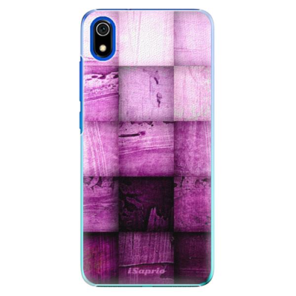Plastové pouzdro iSaprio - Purple Squares - Xiaomi Redmi 7A