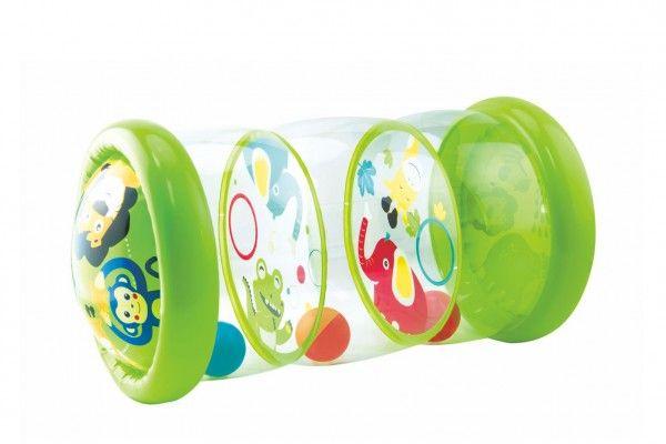 Válec edukační dětský nafukovací PVC 20,3x43,2cm + míčky 3ks v krabici 29x24x6cm 6m+