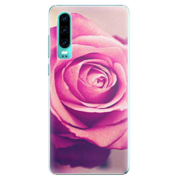 Plastové pouzdro iSaprio - Pink Rose - Huawei P30