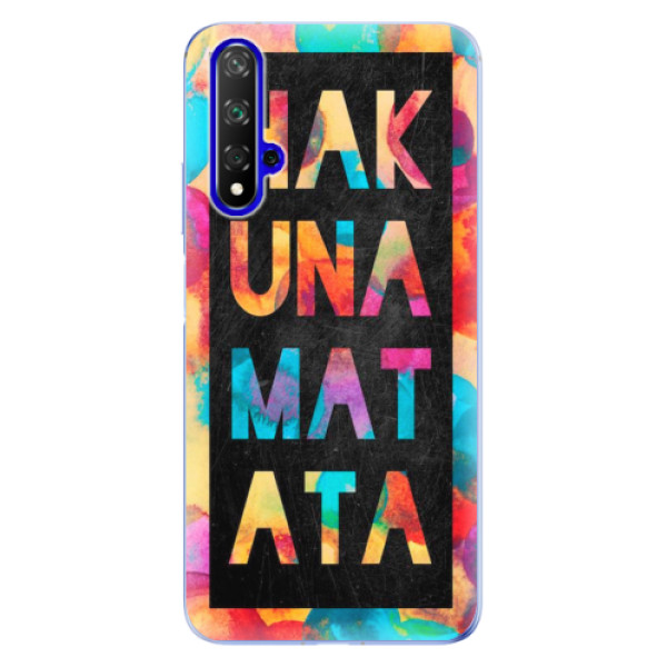 Odolné silikonové pouzdro iSaprio - Hakuna Matata 01 - Huawei Honor 20