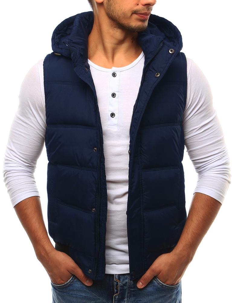 Pánská vesta s kapucí 1506 (tx1693) - PXY Dress - Tmavě modrá/56