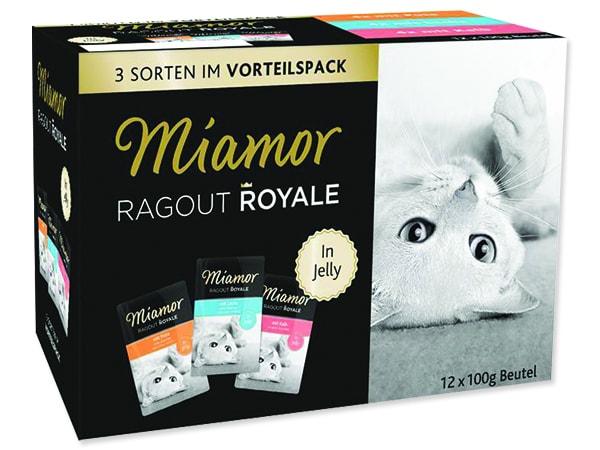Kapsičky MIAMOR Ragout Royale krůta, losos, telecí v želé multipack 1200g
