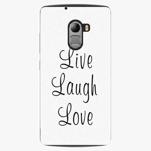 Plastový kryt iSaprio - Live Laugh Love - Lenovo A7010