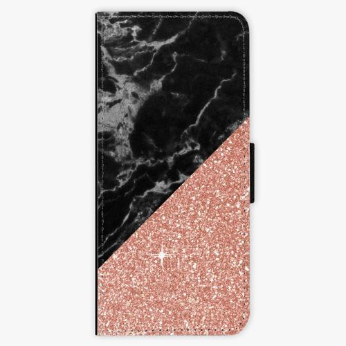 Flipové pouzdro iSaprio - Rose and Black Marble - Samsung Galaxy J3