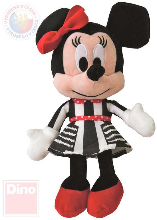 DINO PLYŠ Disney myška Minnie Mouse černo-bílé šaty 25cm *PLYŠOVÉ HRAČKY*