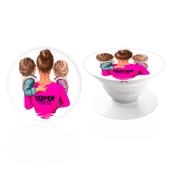 PopSocket iSaprio – Super Mama - Two Boys – držák na mobil