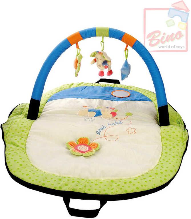 BINO Cestovní hrací deka s hrazdou – slon