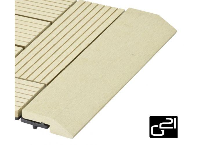Přechodová lišta G21 pro WPC dlaždice Cumaru, 30x7,5 cm rovná