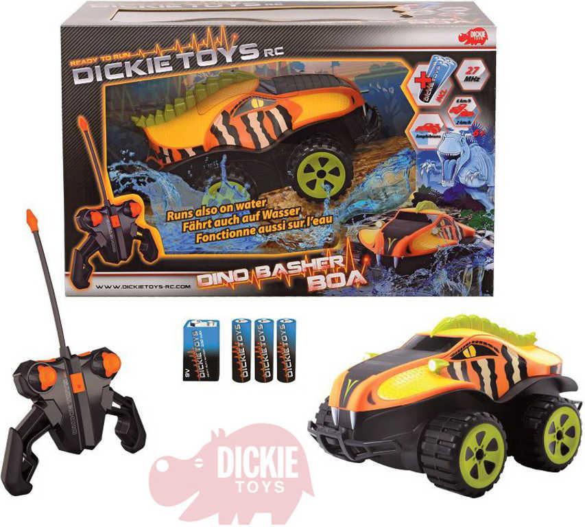 DICKIE RC Auto Dino Dasher Boa 27MHz 1:24 obojživelné na vysílačku na baterie