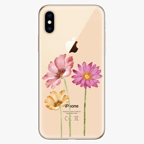Silikonové pouzdro iSaprio - Three Flowers - iPhone XS