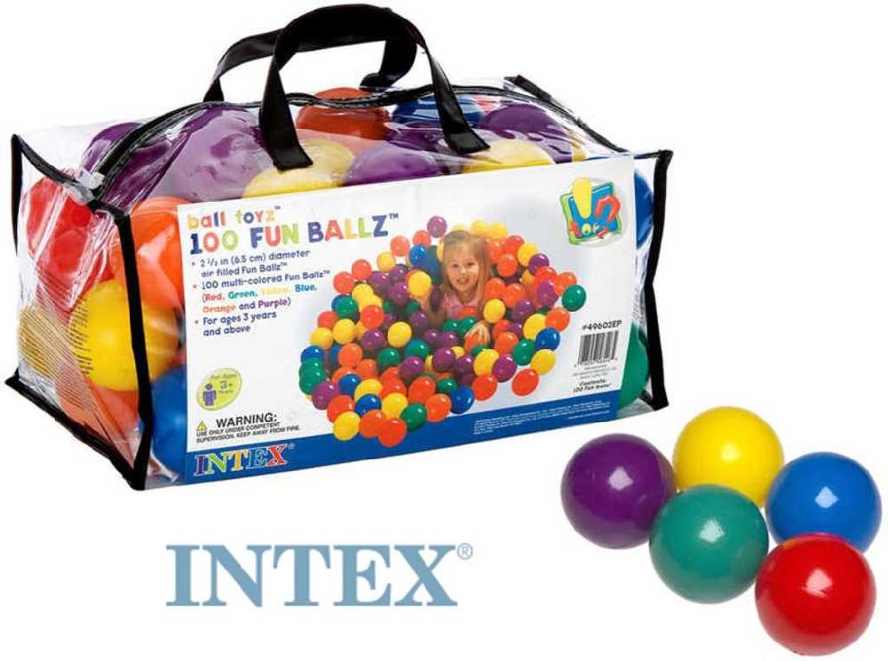 INTEX Míčky 8 cm set 100ks do hracích koutů nebo bazénů sada 49602