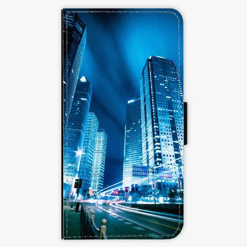 Flipové pouzdro iSaprio - Night City Blue - Sony Xperia XZ