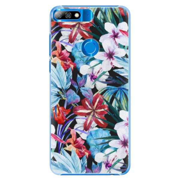 Plastové pouzdro iSaprio - Tropical Flowers 05 - Huawei Y7 Prime 2018
