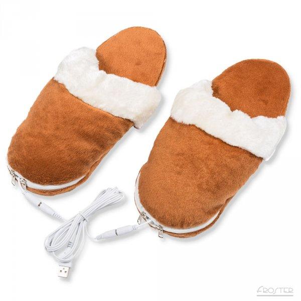USB vyhřívané pantofle