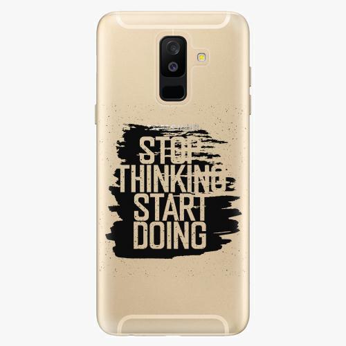Plastový kryt iSaprio - Start Doing - black - Samsung Galaxy A6 Plus