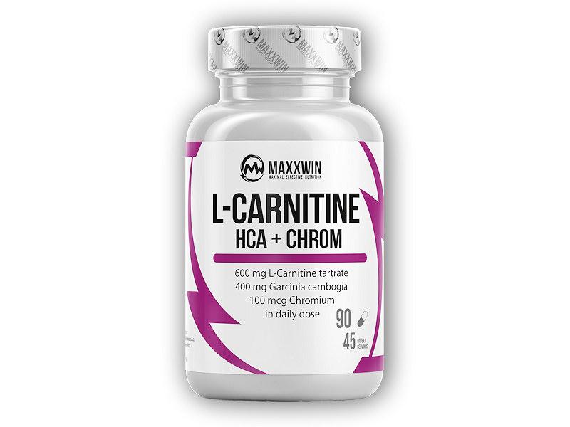 L-Carnitine + HCA + Chrom 90 kapslí